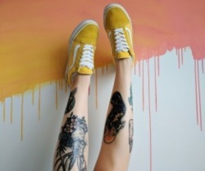 fashion, legs, and paint image