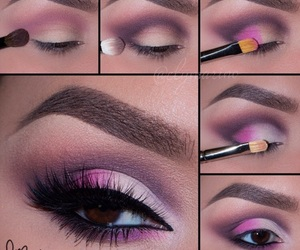 beautiful, makeup, and eyes brown image