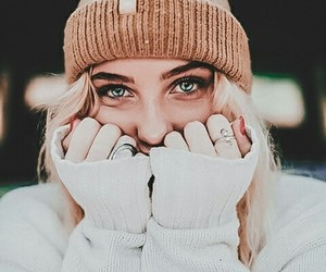 girl, eyes, and photograph image