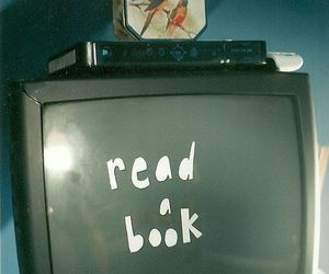 book, tv, and grunge image