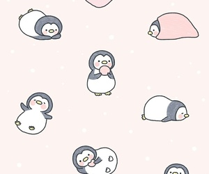 cute, background, and penguin image