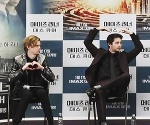 thomas brodie sangster, dylan o brien, and dylmas image