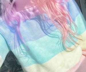 rainbow, pink, and cute image