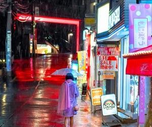 japan, lights, and night image