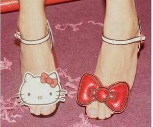 girls, heels, and hello kitty image