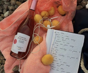picnic, pink, and rosé wine image