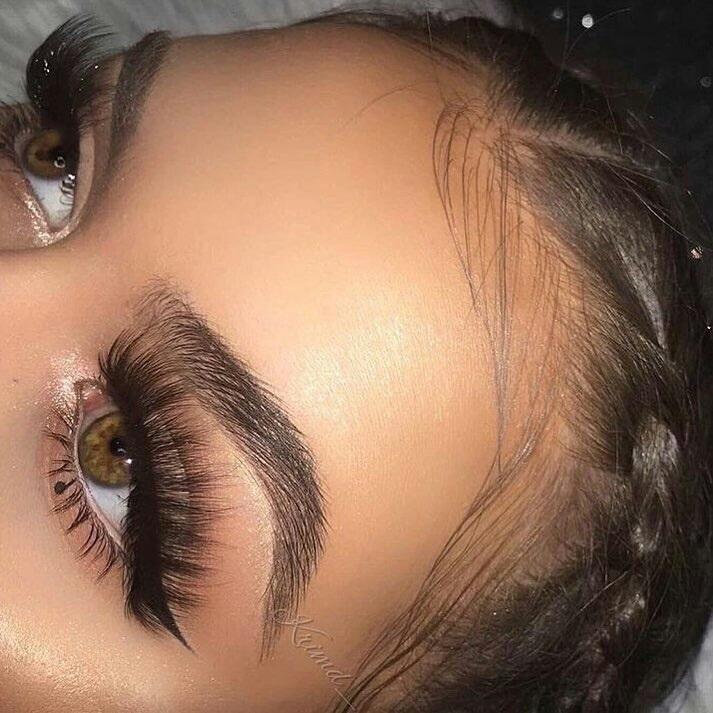 beauty, brown eyes, and eyelashes image