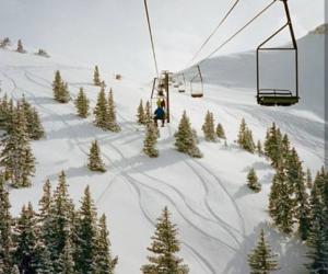 mountains, ski, and ski lift image