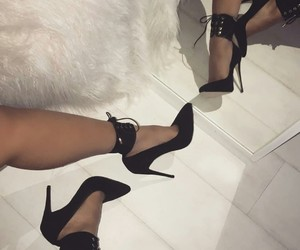 fashion style, shoes heels, and goals inspiration image