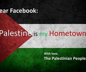 facebook, palestine, and فلسطين image