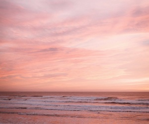 beach, aesthetic, and pink image