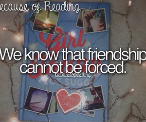 friendship and because of reading... image