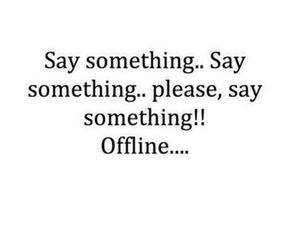 offline and text image