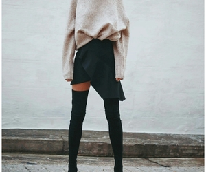 aesthetic, winter, and long boots image