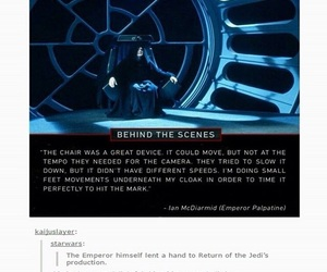funny, star wars, and palpatine image