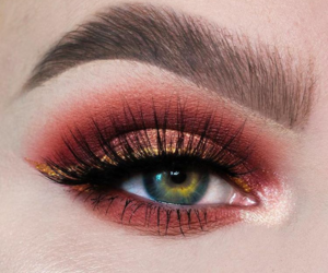 eye, lashes, and makeup image