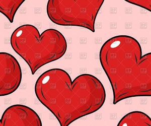 background, clipart, and hearts image