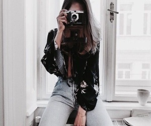 beauty, camera, and hair image