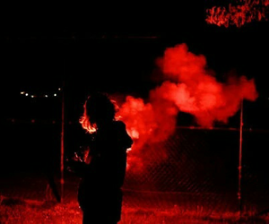 red, aesthetic, and smoke image