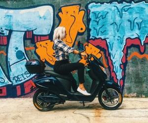 bike, fashion, and model image
