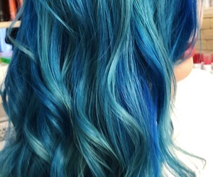 blue, blue hair, and color image