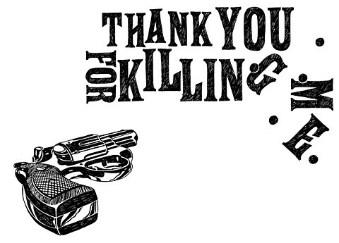 gun, suicidal thoughts, and typography image