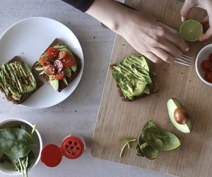 avocado, dinner, and healthy image