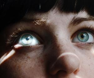 eyes, blue, and light image