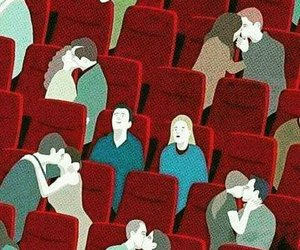 love, couple, and cinema image