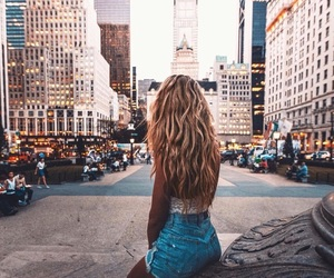 cities, girl, and new york image