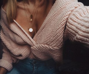 clothes, fashion, and pink jumper image