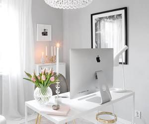 decor, workspace, and decoration image
