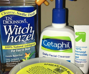 skincare, shea butter, and witch hazel image