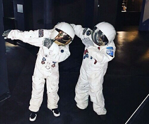 astronaut, space, and dab image