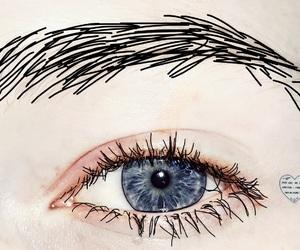 alternative, eyes, and blue image