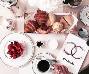 breakfast, chanel, and chic image