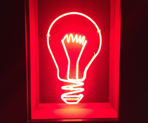 light bulb, lights, and neon image