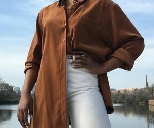aesthetic, blouse, and brown image