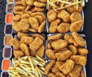 food, nuggets, and junk image
