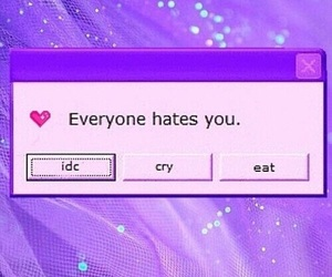 purple, hate, and aesthetic image