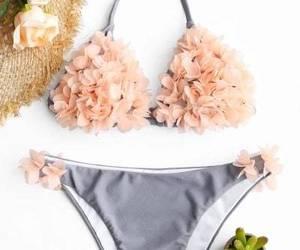 bikini, swimsuits, and tanlines image