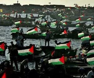 flag, israel, and palestine image