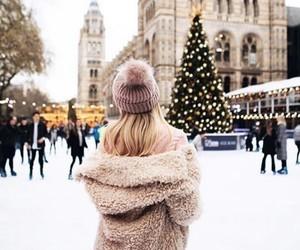 city, christmas, and snow image