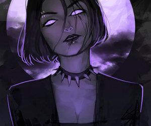anime, girl, and goth image