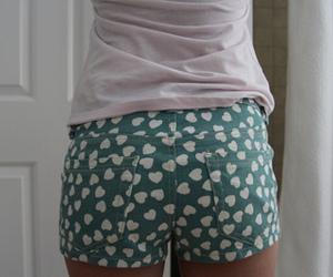 fashion, hearts, and shorts image