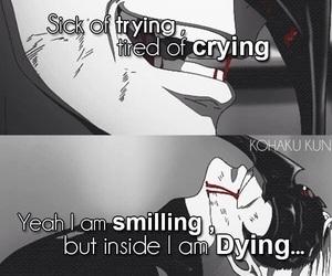 anime, sad, and tokyo ghoul image