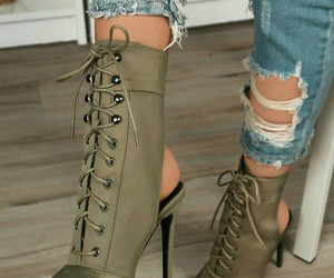 fashion, shoes, and green image