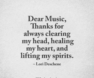 head, music, and heal image