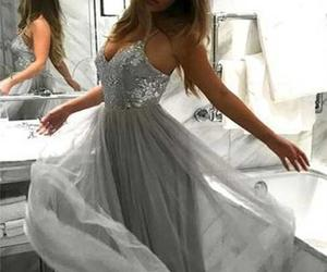 dress, prom dress, and simple outfits image