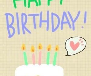 happy birthday, velas, and torta image